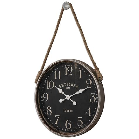 rustic clock rustic wall clocks rustic wall clock in distressed wood