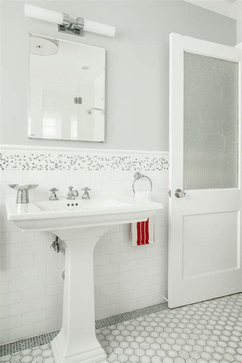 grey mosaic bathroom white gray bathroom mosaic subway hex tiles house
