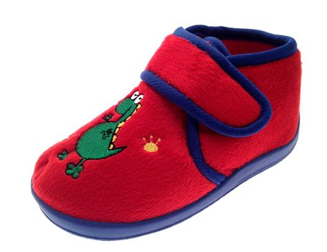 boys size 4 slippers childrens velcro slipper boots toddlers indoor shoes boys