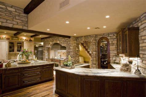 amazing stone kitchen designs  rustic