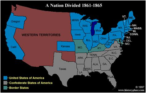 map of united states during civil war hist111 confederates html