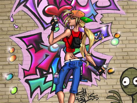 graffiti wallpapers  girls   fun