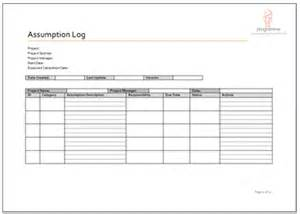 Budget Assumptions Template Programme Project Tools Project Planning Document