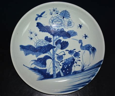blue and white porcelain fine large chinese blue and white porcelain plate rare
