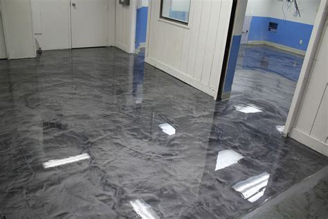 Epoxy Floor by Metallic Epoxy Flooring Tile Floor Solutions