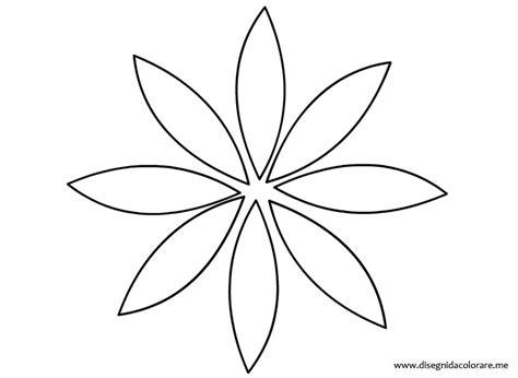 disegno fiore stilizzato stencil fiore disegni da colorare