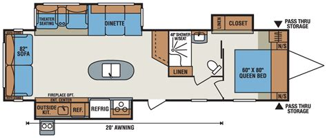 spree rv floor plans 2016 spree 328ik lightweight travel trailer k z rv