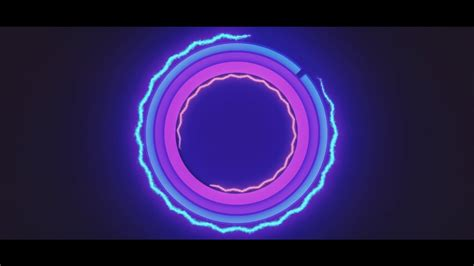 neon free 2d intro template after effects intro template