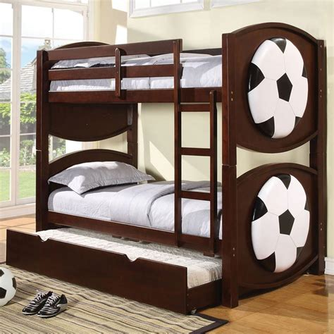 soccer beds acme furniture all star 11954 sports themed soccer bunkbed