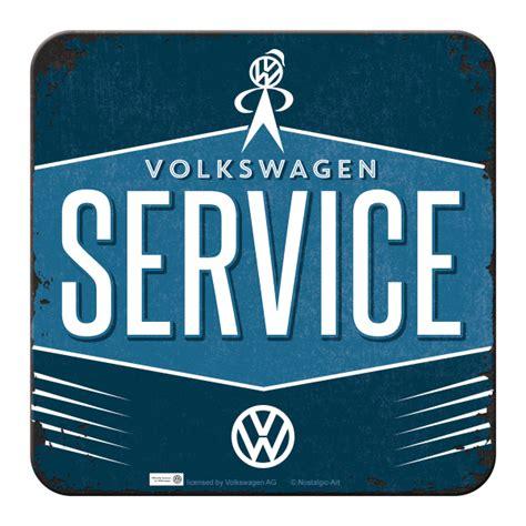 volkswagen service logo nostalgic metal coaster volkswagen service retro logo