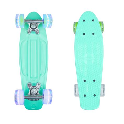 penny board light up wheels mini penny board worker pico 17 quot with light up wheels