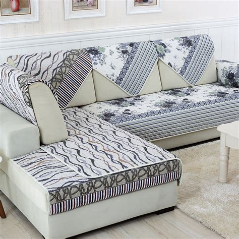 Sunnyrain 1 Piece Double Face Reversible Modern Sofa Cover Slipcover For L Shaped Sofa