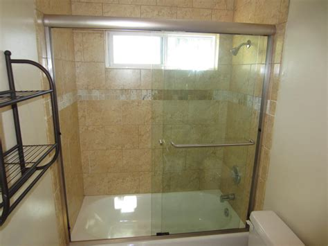 bathtub sliding shower doors sliding bi pass shower door patriot glass and mirror san diego ca