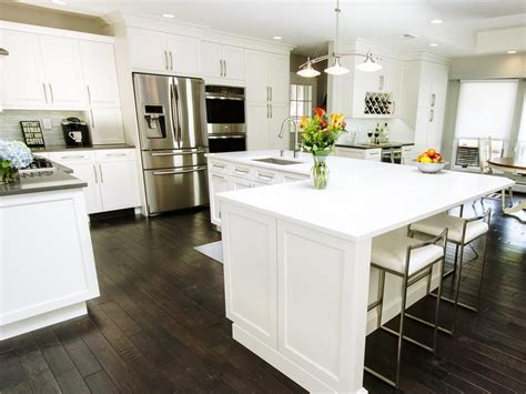 white l shaped kitchen with island before and after l shaped kitchen remodels kitchens
