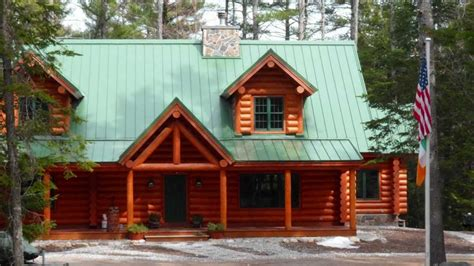 maine real estate big cabin log home harrison