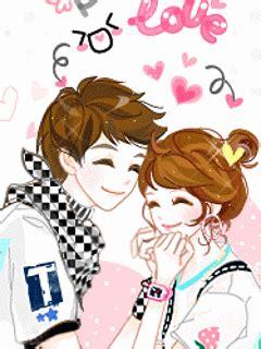gambar animasi bergerak romantis korea