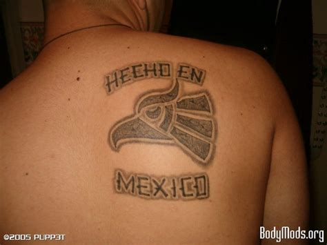 made in mexico tattoo made in mexico eagle on forearm
