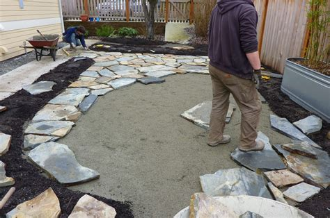 winter hardscape installation ballard erin lau design