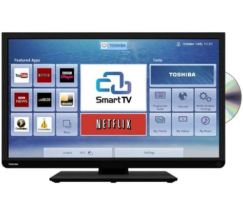 Led Toshiba Smart Tv Hd 43l5650 40 toshiba 40d3453db hd ready freeview hd smart led tv with dvd player