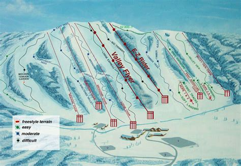 alpine mountain skimap org alpine valley resort ski trail map east troy wisconsin