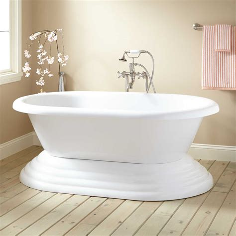 bath tub or bathtub allistar acrylic pedestal tub bathroom
