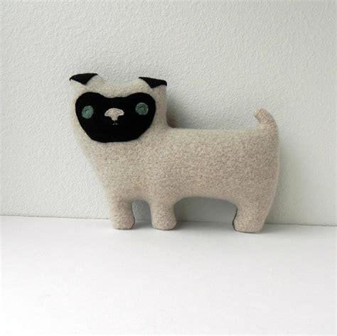 pug plush pillow the pug plush wool pillow