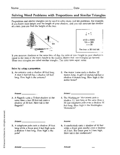 Solving Proportions Word Problems Worksheet by Ratio And Proportion Word Problems Worksheet With Answers