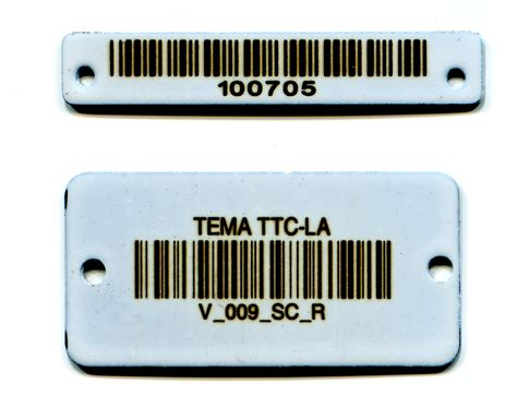 stainless steel tags ceramic coated stainless steel barcode plates and tags 171 industries custom