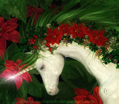 Images Of Christmas Unicorns | a christmas unicorn by suliannh on deviantart