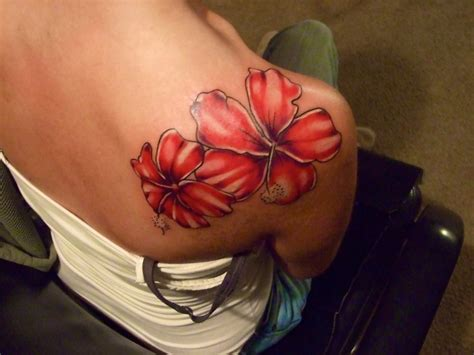 hibiscus tattoo on shoulder 17 best images about darkside tattoo on pinterest
