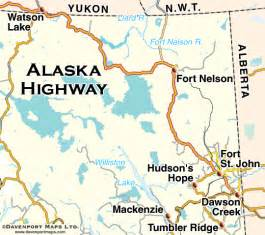 alaska canada highway map map of alaska canada highway