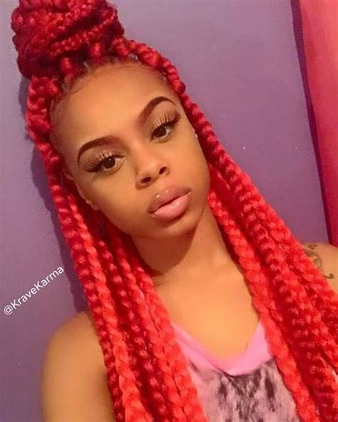 how to do jumbo box braids 45 photos of rockin red box braids