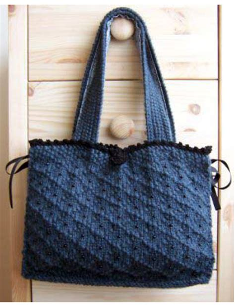 free knitted tote bag patterns knitting patterns for handbags free patterns
