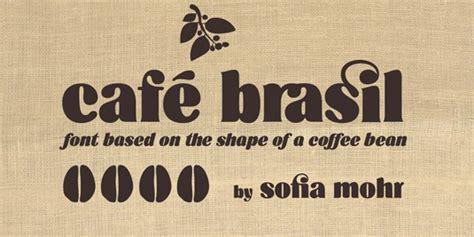 Cafe Design Font | font of the day cafe brasil creative bloq