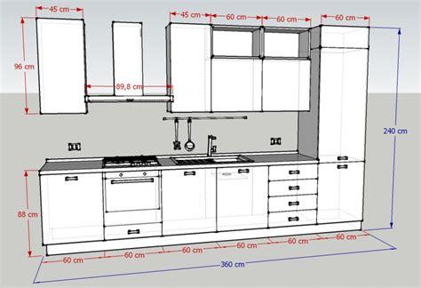 altezza cucina misure standard cucine componibili interesting misure