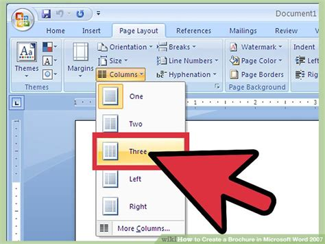 how to create a brochure in microsoft word 2007 with sles