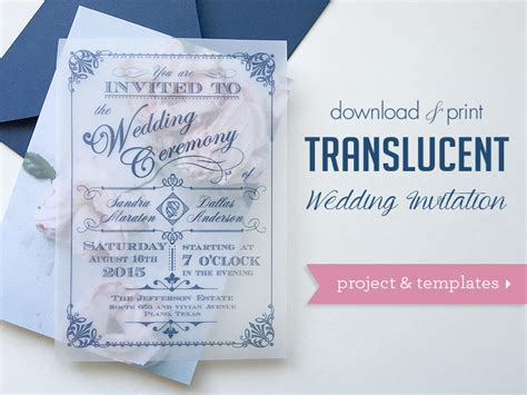 diy wedding invitations printing diy translucent wedding invitation with vintage charm
