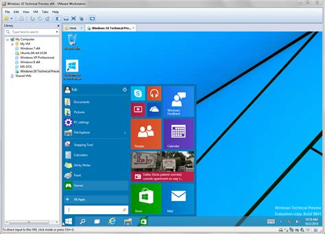 win10win10 try windows 10 tech preview with vmware workstation and