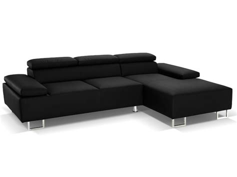 canape angle luxe canap 233 d angle cuir luxe italien noir angle droit
