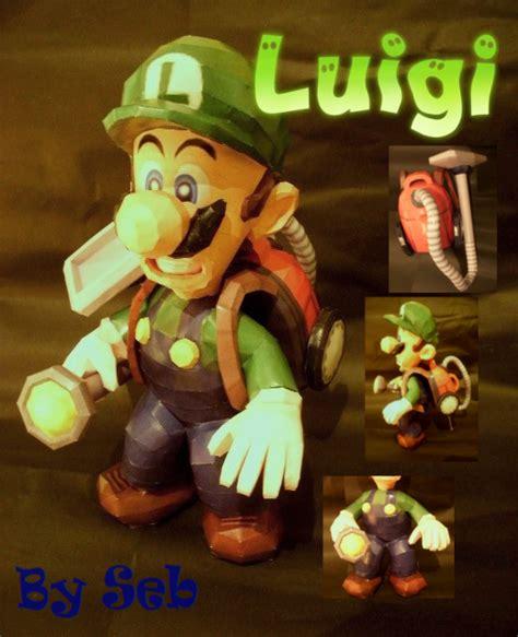 Papercraft Luigi - mario luigi s mansion luigi po archives