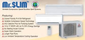 Mr Slim Mitsubishi Electric Choates Heating Air Conditioning And Plumbing Mr Slim