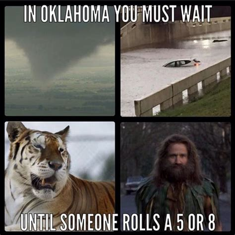 Okc Memes - tornadoes tigers and flooding oh my old hat creative