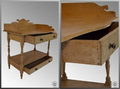 Pine Vanity Table Antique Pine 2 Drawer Wash Stand Vanity Table