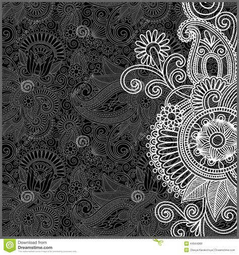 white pattern drawing black and white floral pattern stock vector image 44944966
