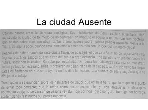 la ciudad ausente the la ciudad ausente