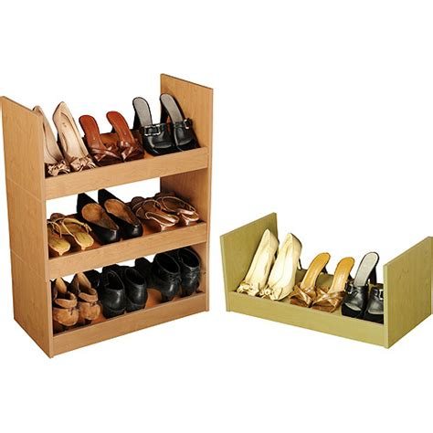 walmart shoe storage stackable shoe cabinet oak walmart