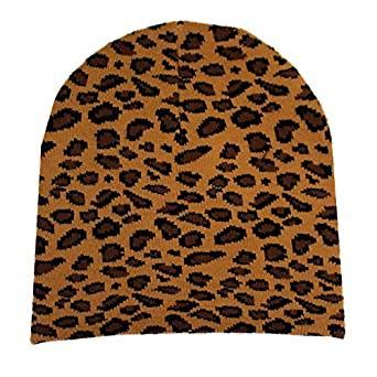 Where To Buy Hiltons Leopard Print Beanie by Brown Leopard Print Acrylic Beanie Clothing
