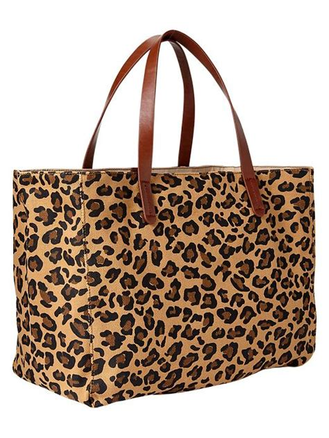 Gap Productred Canvas Tote by Gap Printed Canvas Tote In Animal Leopard Print Lyst