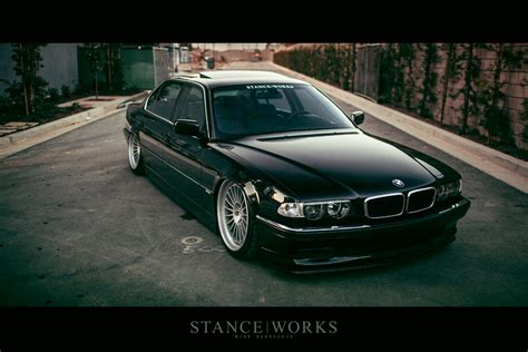 bmw 740 stance saying our farewells the stanceworks project 2000 e38
