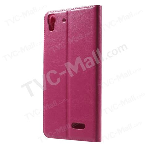 Casing Oppo Inc leather cover for oppo r7 with stand tvc mall